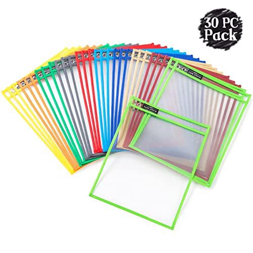 Dry Erase Pockets Sheet Protectors
