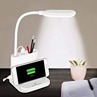 LED Desk Lamp NOVOLido Rechargeable Desk Lamo with USB Charging Port