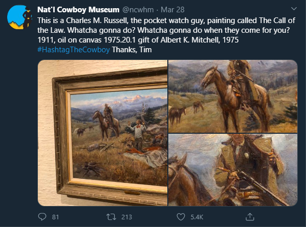 Cowboy Tweet