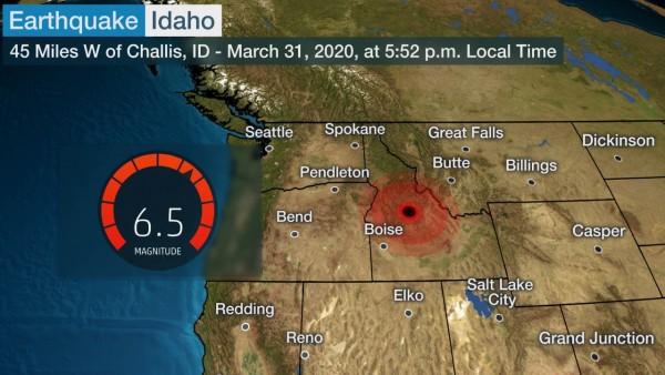 Magnitude 6.5 Earthquake Yellowstone