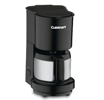 Cuisinart DCC-450BK 4-Cup Coffeemaker with Stainless