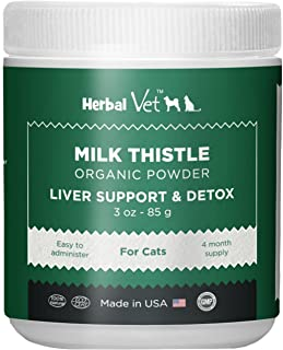 Herbal Vet Certified Organic Milk Thistle Powder for Cats and Dogs