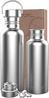 Triple Tree Uninsulated Single Walled Stainless Steel Sports Water Bottle