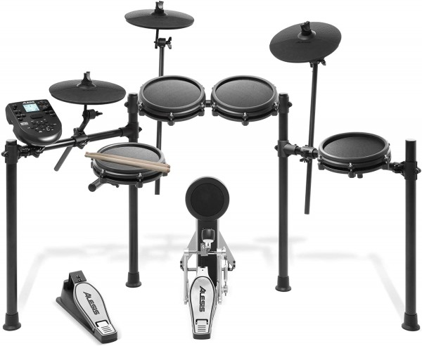 Alesis Drums Nitro Mesh kit Eight Piece All Mesh Electronic Drum Set