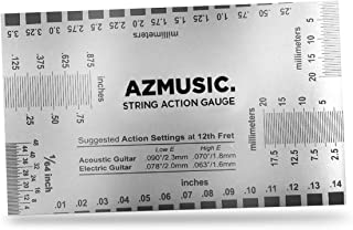 AZMUSIC Premium String Action Gauge Compact and Versatile