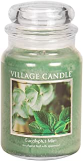 Village Candle Eucalyptus Mint 26 oz Glass Jar