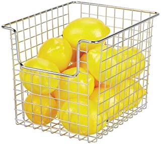 mDesign Household Metal Kitchen Pantry Food Storage Organizer Bin