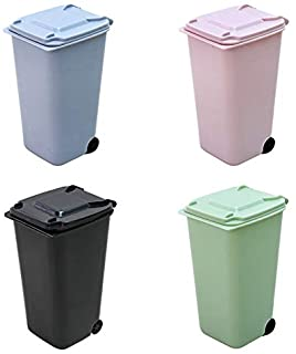 Small Trash Cans Mini Desk Trash Can with Lid