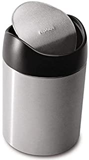 Simplehuman 1.5 Liter Gallon Countertop Trash Can Brushed Stainless Steel
