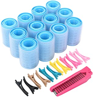 Self-Grip Hair Rollers Set with Hairdressing Curlers