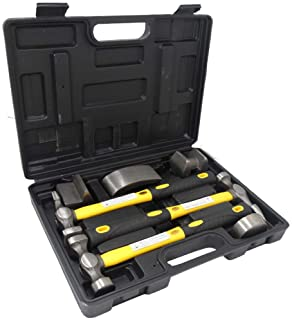 7 Piece Hammer and Dolly Auto Body Dent Repair Kit