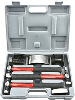 NEIKO Heavy Duty Auto Body Hammer and Dolly Set 7 Piece