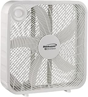 Brentwood Kool Zone Box fan 3 Speed 20-Inch White