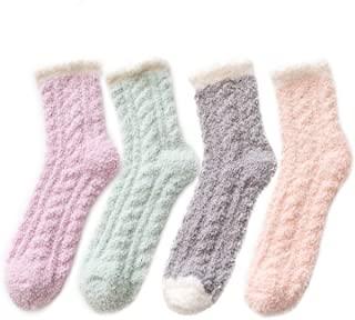 Zando Women Warm Super Soft Plush Slipper Sock Winter Fluffy Microfiber