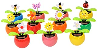 Set of 8 Cute Solar Power Flip Flap Flower Insect for Car