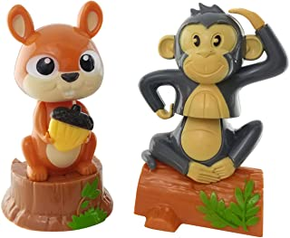 Outdoors By Design Squirrel and Monkey Solar Powered Dancing Toys Set of 2