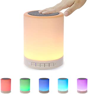 Night Light Bluetooth Speaker Portable Wireless Speakers with Touch Control