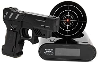 Lock N' Load Gun Alarm Clock Black