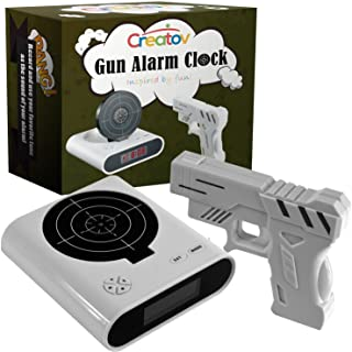 CREATOV DESIGN Target Alarm Clock with Gun