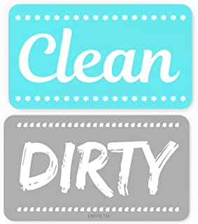 Dishwasher Magnet Clean Sign Strong Magnet Double Sided Flip