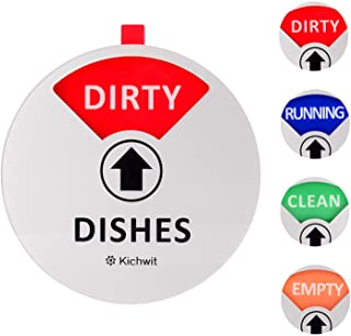 Kichwit Dishwasher Magnet Clean Dirty Sign Indicator