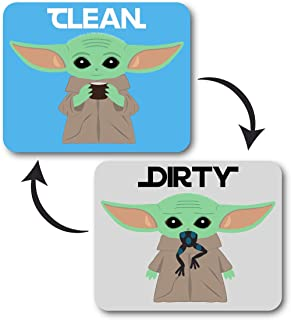 Baby Yoda Decal Dishwaher Magnet Clean Dirty Indicator