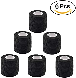 Tattoo Grip Cover Wrap Romlon 6 Pieces Disposable Cohesive Tattoo Grip Wrap