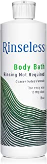 Rinseless Body Bath Wash 16 oz Waterless Non Rinse Concentrated Formula