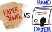 paper towel versus hand dryer
