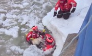 Coast Guard rescues dog from icy Frankfort Bay, Michigan