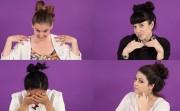 trying Pinterest hair tutorials