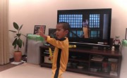 5-year old acting like Bruce Lee