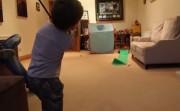 Three year old golfer