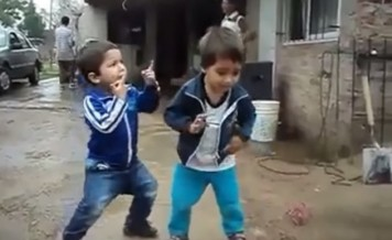 dancing toddlers