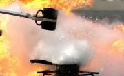 Explosive Oil Fire