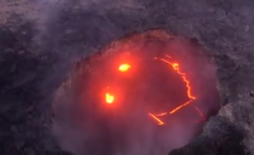 Mysterious Smiley Face Appears in Hawaiian Volcano During Eruption
