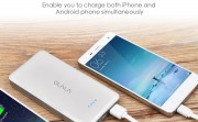 [Apple MFi Certified] OLALA C2-i 6000mAh Portable Charger Ultra Slim Power Bank with Built-in Lightning Cable Dual Output