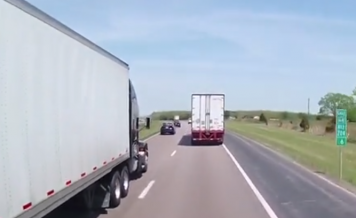 Damaged Tire Explodes from Passing Truck
