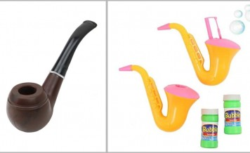 Bubble pipes and costume accessories